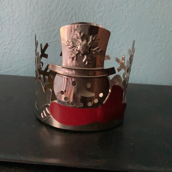 Yankee candle snowman candle holder
